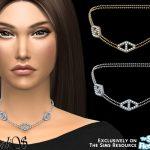 Ожерелье Diamond Hexagon Chain Necklace Симс 4