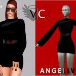 Платье AngeliveD Collection - Dress VIII Симс 4