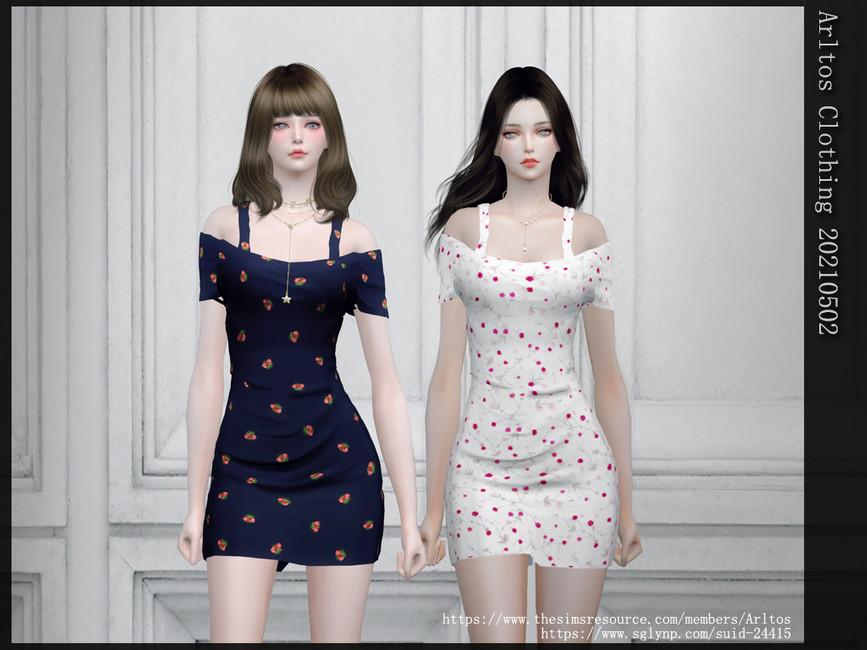 Платье Clothing 20210502 Симс 4