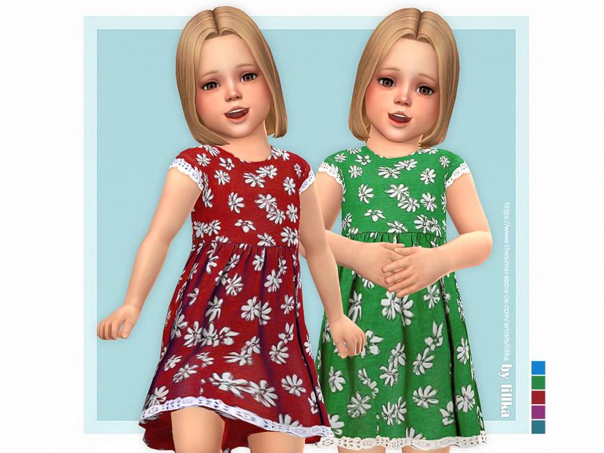 Платье для детей Malea Dress Симс 4