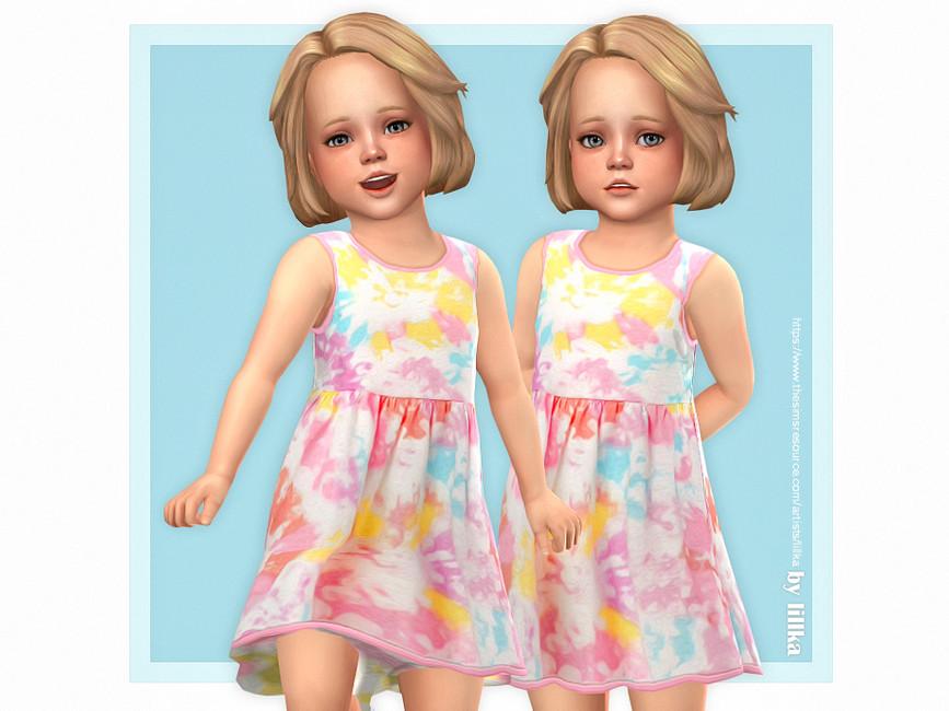 Платье для девочек Palina Dress Симс 4