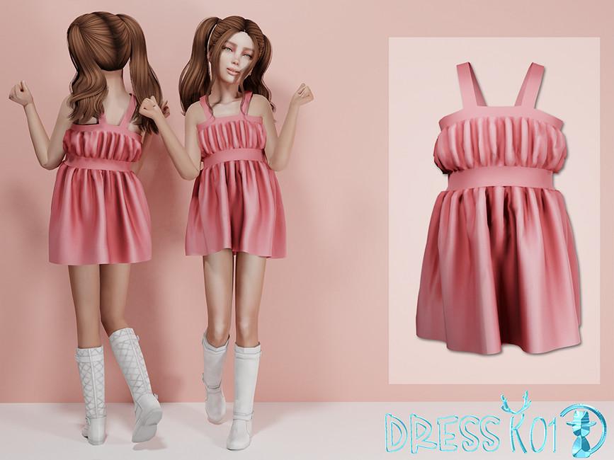 Платье Dress K01 Симс 4