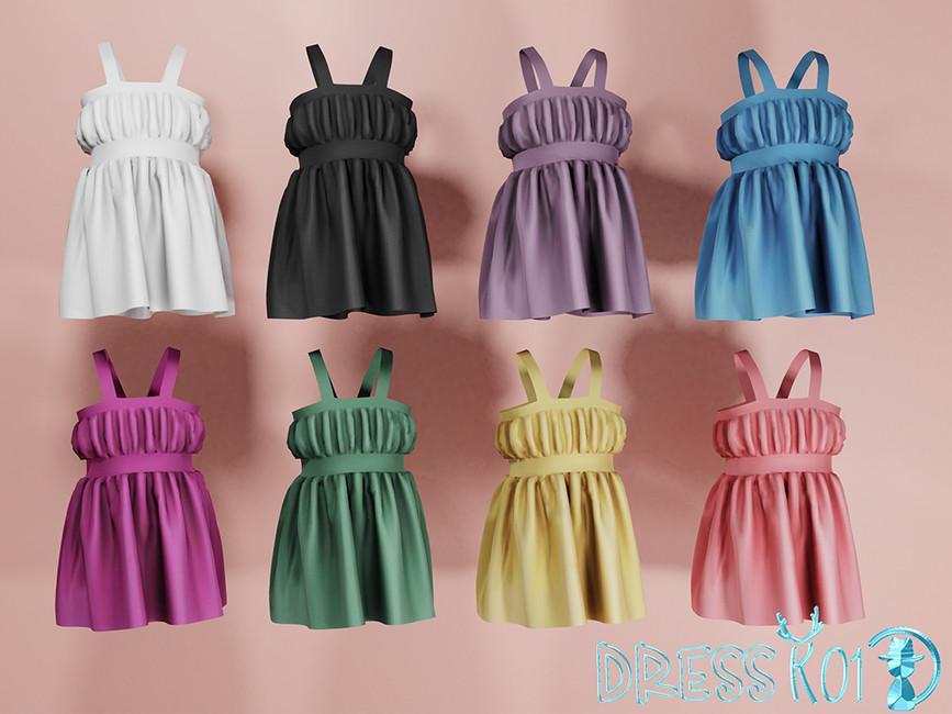 Платье Dress K01 Симс 4 (картинка 2)