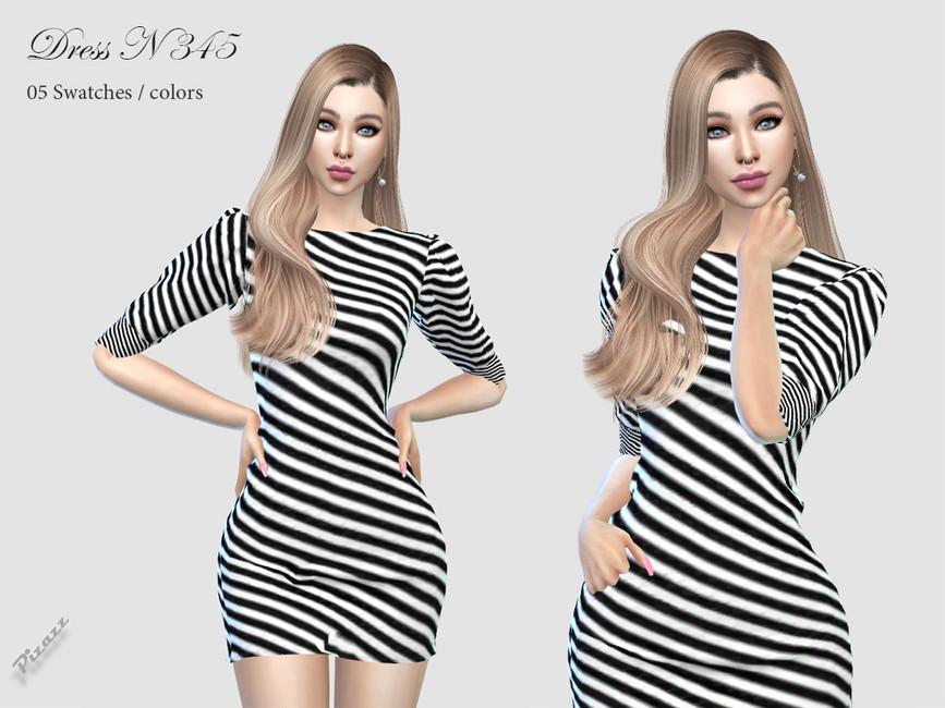 Платье DRESS N345 Симс 4