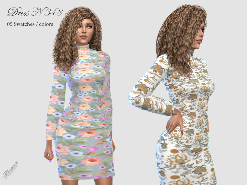 Платье DRESS N348 Симс 4