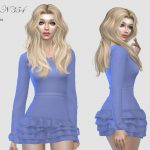Платье DRESS N354 Симс 4