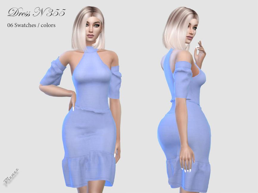 Платье DRESS N355 Симс 4