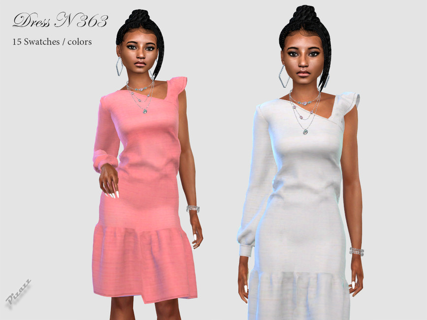 Платье DRESS N363 Симс 4