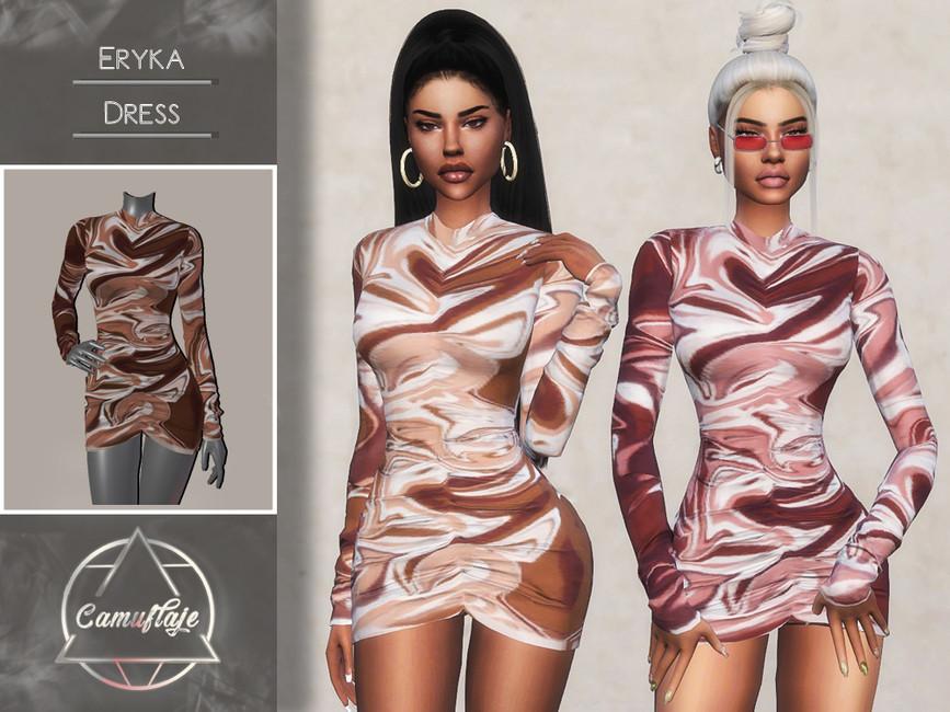 Платье Eryka (Dress) Симс 4