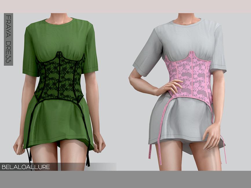 Платье Fraya Dress Симс 4