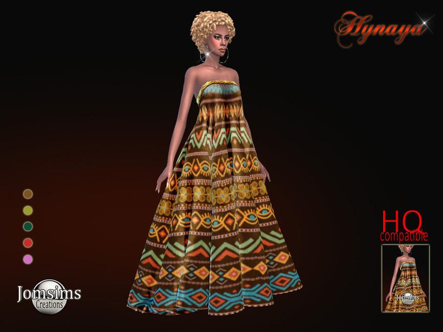 Платье Hynaya Dress Симс 4