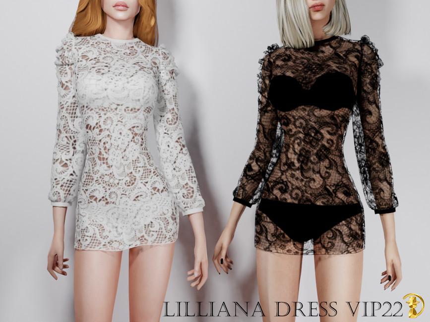 Платье Lilliana Dress VIP22 Симс 4