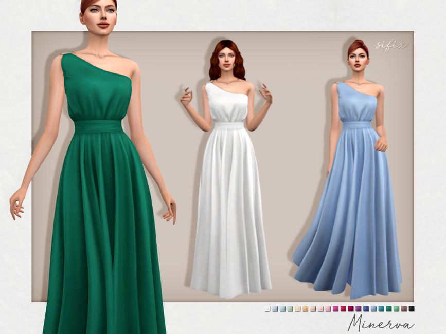 Платье Minerva Dress Симс 4