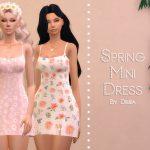 Платье Spring Mini Dress Симс 4