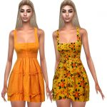 Платье Summer Style Colorful Dresses Симс 4