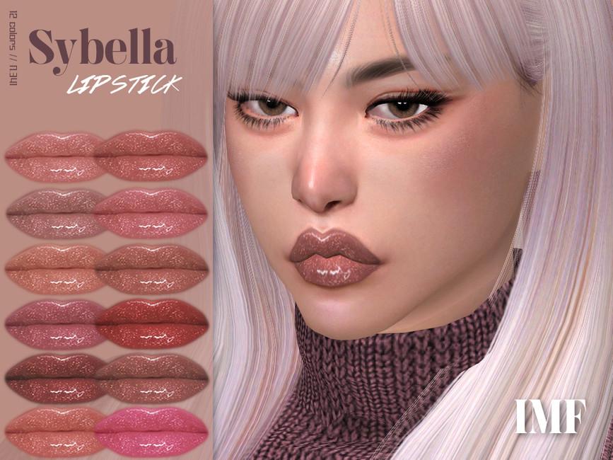 Помада для губ IMF Sybella Lipstick N341 Симс 4