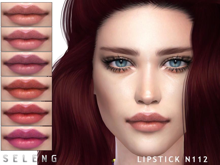 Помада для губ Lipstick N112 Симс 4