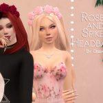 Повязка на голову Roses and Spikes Headband Симс 4