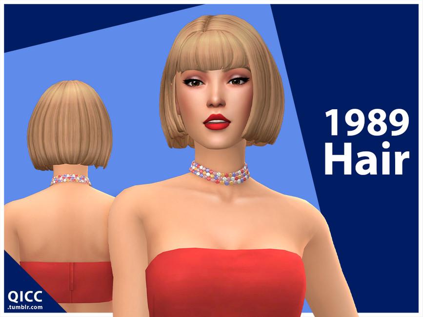 Прическа 1989 Hair Симс 4