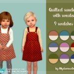 Сарафан для детей Quilted Sundress With Sweater Симс 4