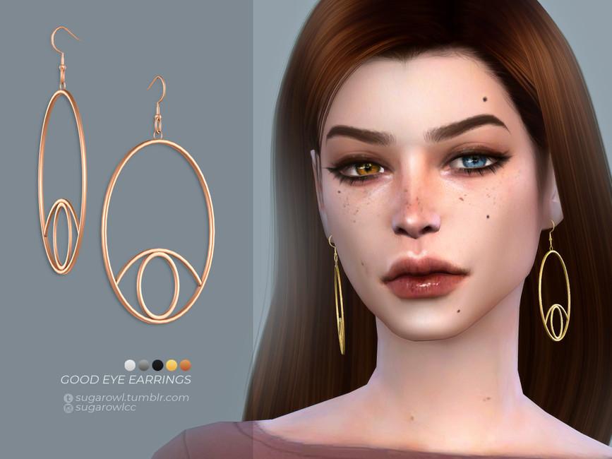 Сережки Good Eye Earrings Симс 4