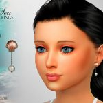 Серьги для детей Sea Child Earrings Симс 4