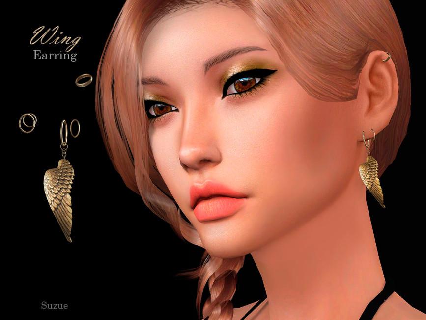 Серьги Wing Earring Симс 4