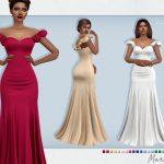 Скачать вечерние платья Симс 4