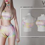 Топ Rainbow Outfit (TOP) P47 Симс 4