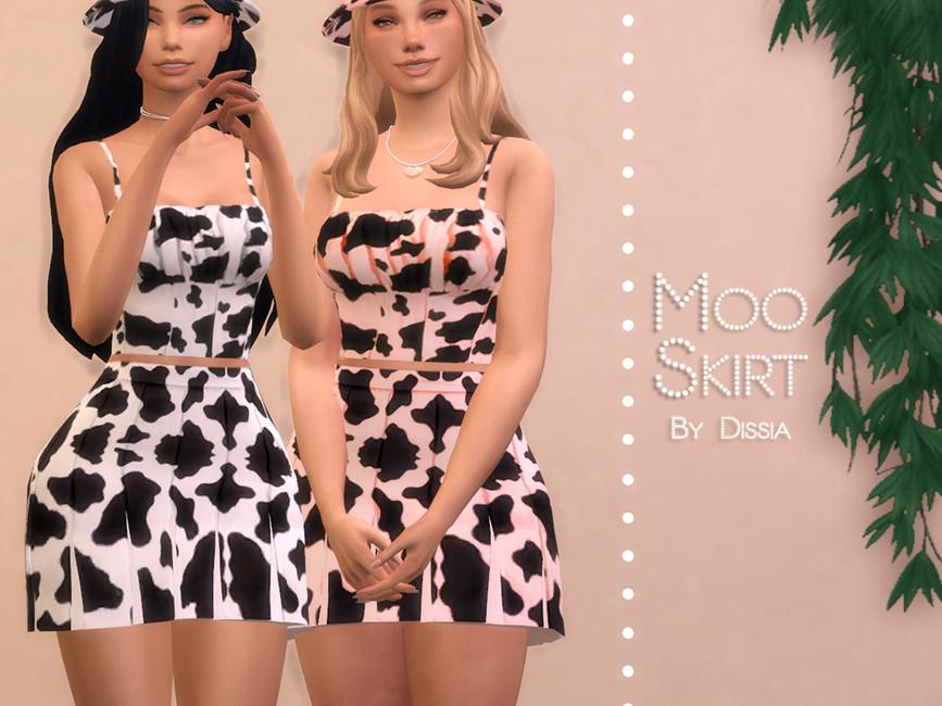Юбка Moo Skirt Симс 4