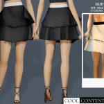 Юбка Ruffle Skirt Симс 4