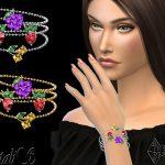 Браслеты Summer Berrys Bracelets Симс 4
