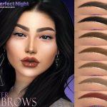 Брови Glitter Eyebrows Симс 4