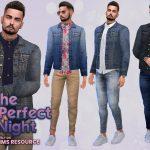 Джинсовая куртка The Perfect Santoro Denim Jacket Симс 4