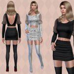 Моды мини-юбка Симс 4