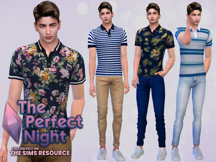 Моды мужские футболки Симс 4
