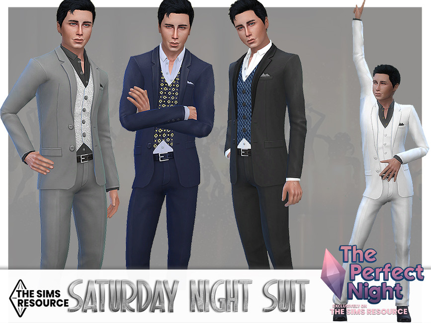 Моды мужской костюм Симс 4