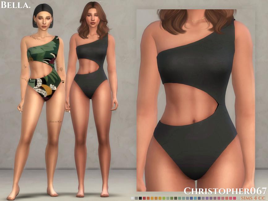 Моды одежда купальники Симс 4