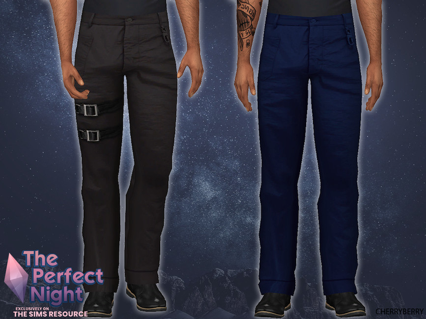 Мужские штаны Mens Gothic Pants Симс 4