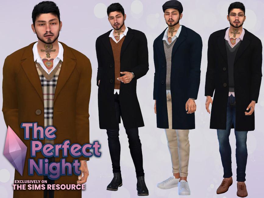 Мужское пальто The Perfect Night Vernon Coat Симс 4