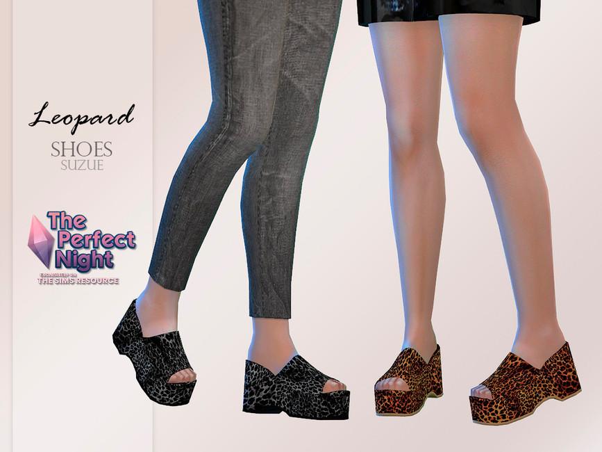 Обувь Leopard Shoes Симс 4