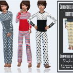Пижама Children's Pajamas (Bottom) Симс 4
