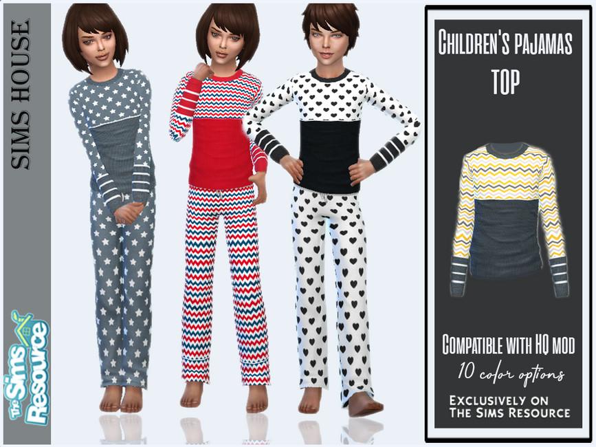 Пижама Children's Pajamas (Top) Симс 4