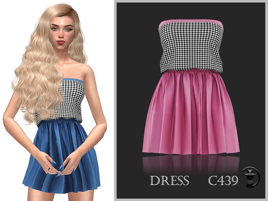 Платье Dress C439 Симс 4