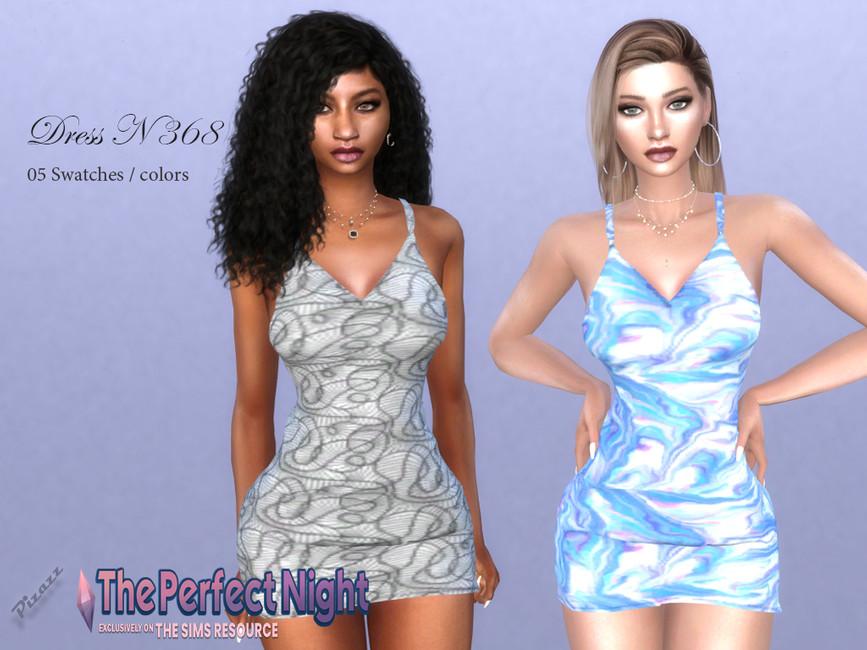 Платье DRESS N368 Симс 4
