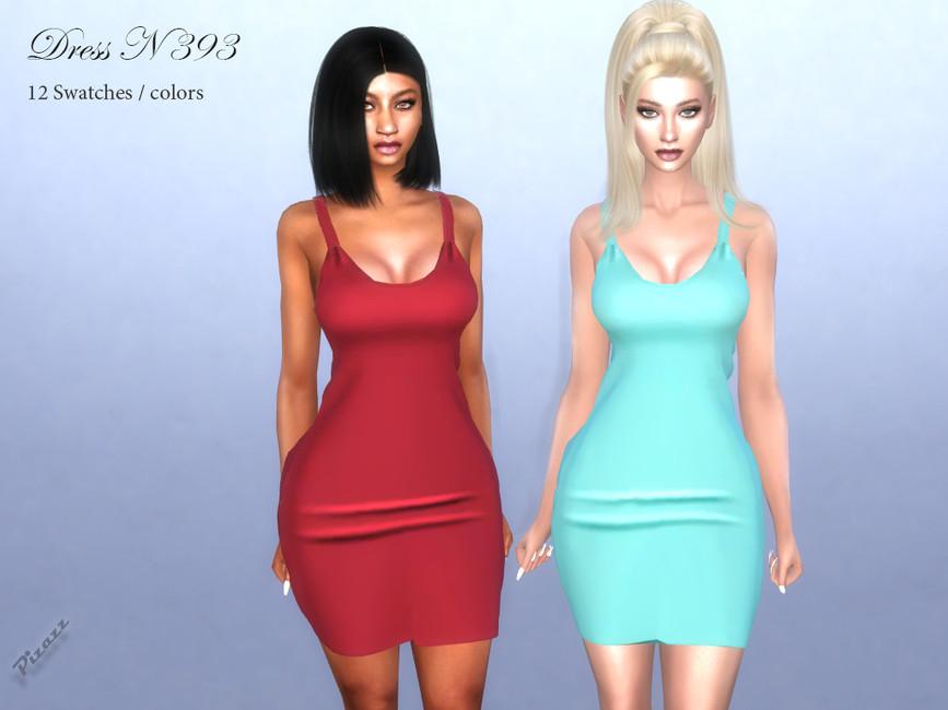Платье DRESS N393 Симс 4