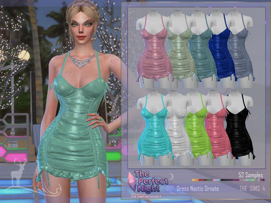 Платье Dress Noctis Ornate Симс 4 (картинка 2)