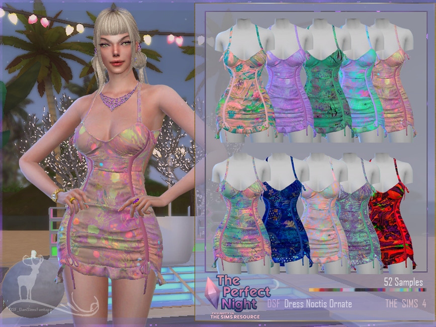 Платье Dress Noctis Ornate Симс 4 (картинка 3)