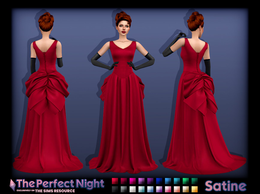 Платье Satine Gown Симс 4