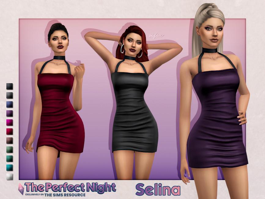 Платье Selina Dress Симс 4